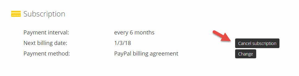 cyberghost pro membatalkan pembayaran berkala