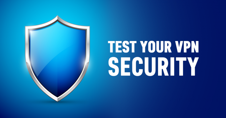 """image with text """"Test Your VPN's Security"""""""